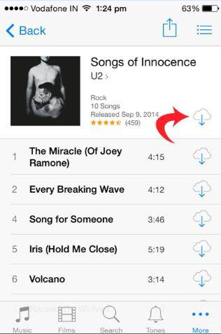 How to re-download songs and delete unwanted songs from iCloud on iPhone