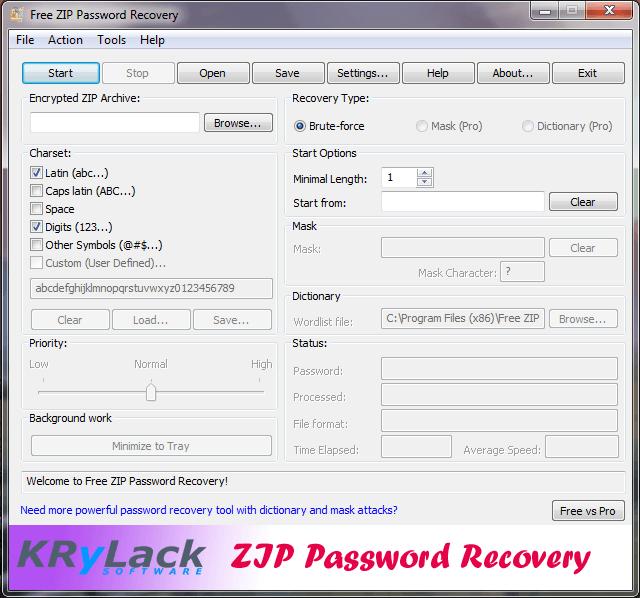 Принцип работы проги, подбор пароля перебором всех символов которые.