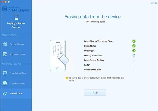 erase iphone data