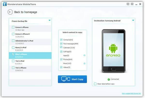 One Click to Backup and Restore Both iOS and Android SMS