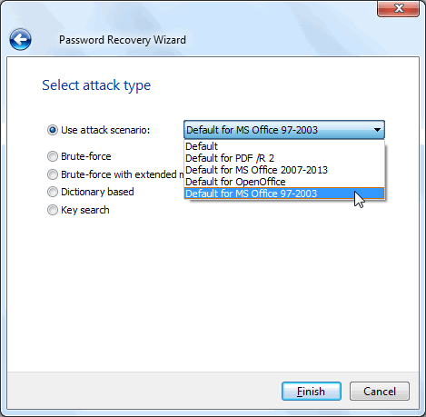 password recovery wizard
