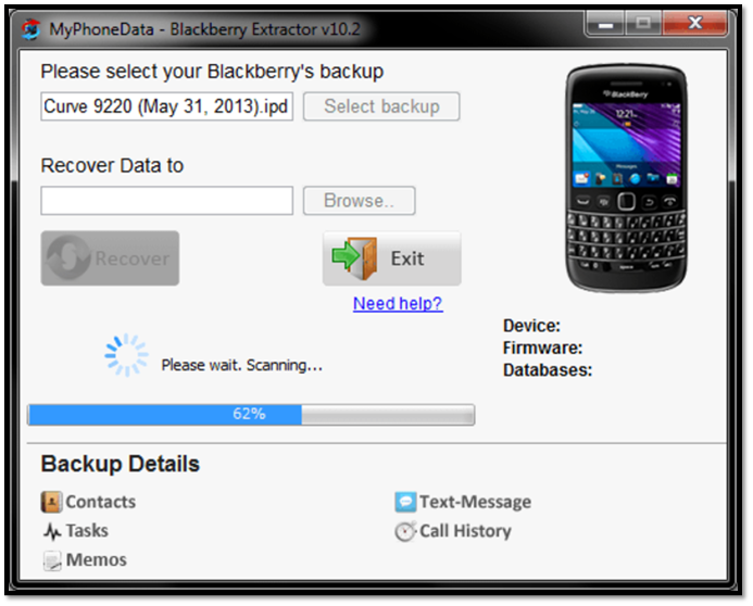 Top 3 Simple Blackberry Backup Extractors