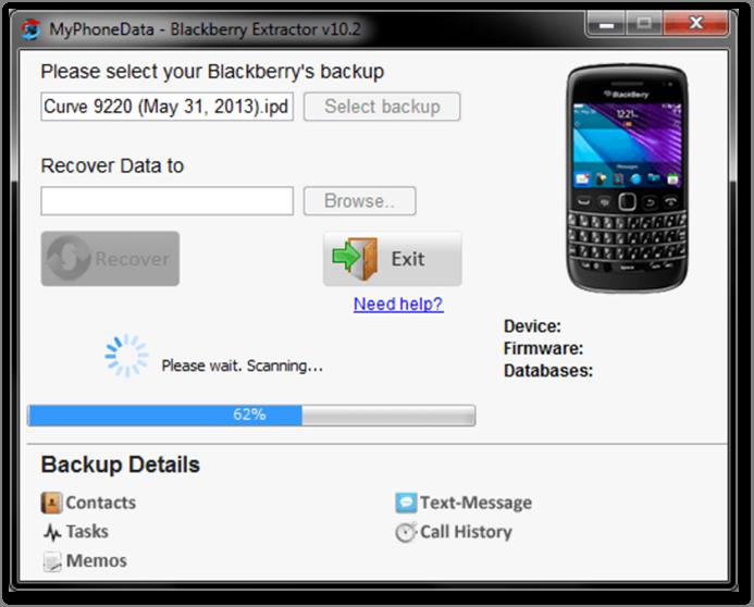 Top 3 Simple Blackberry Backup Extractors