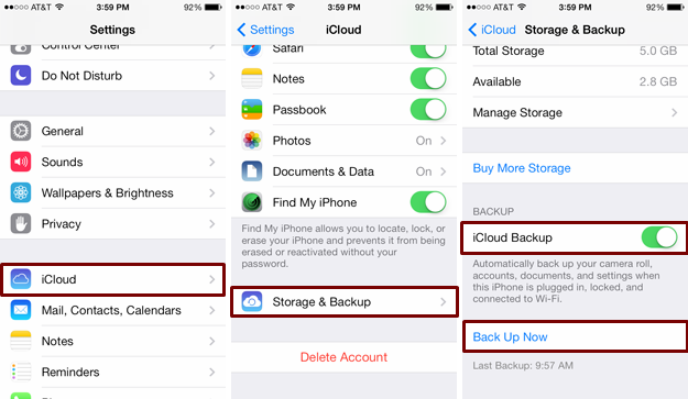 Top 3 Ways to Backup iPhone Text Messages