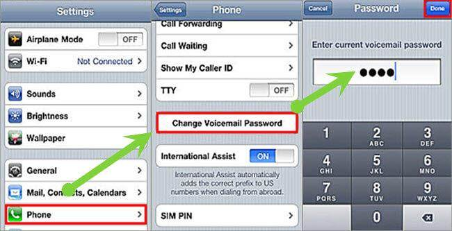reset voicemail password iphone