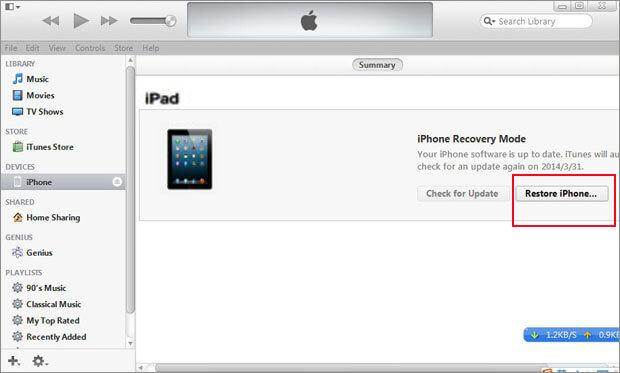 ipad recovery password