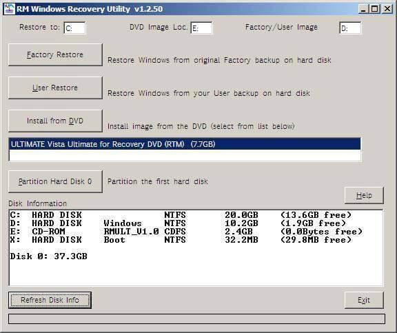 hard drive recovery vista