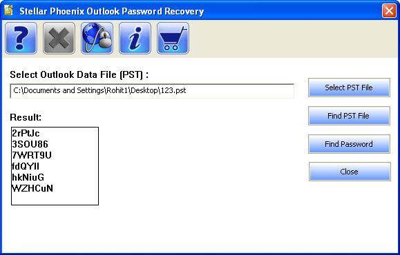 stellar phoenix outlook password