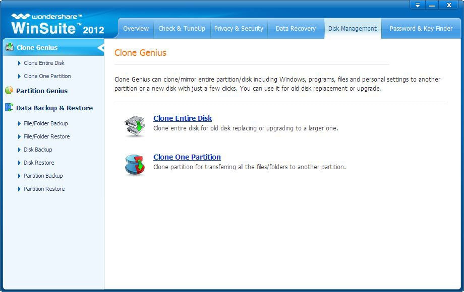 Wondershare WinSuite Screenshot