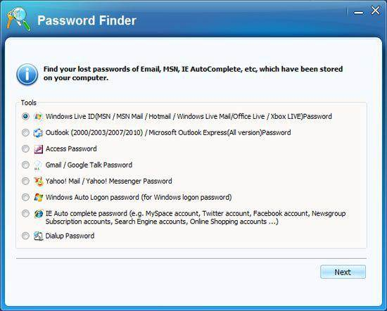 crack hotmail password