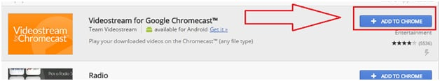 Video Stream for Google Chromecast