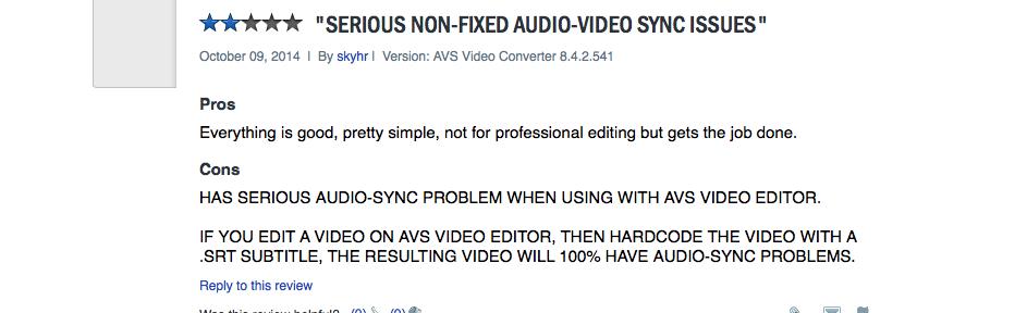 AVS video converter reviews and alternatives
