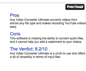 Any Video Converter Reviews and Alternatives