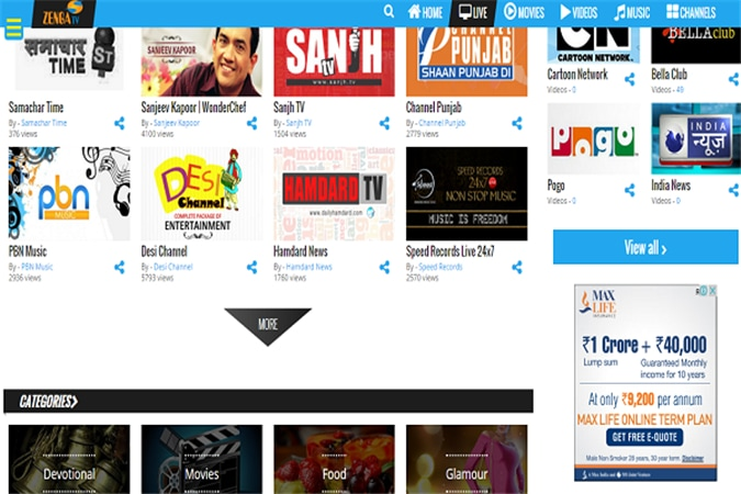 10 Websites to Watch Indian Live Television