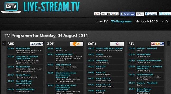 Online TV Live Stream, Kostenlos LiveStream Fernsehen