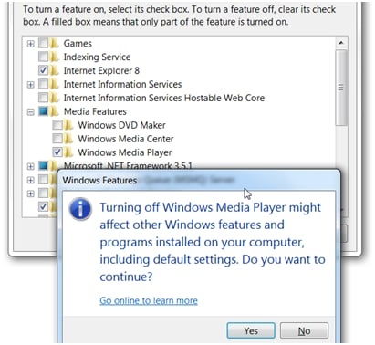 How to uninstall Windows Media Player completely