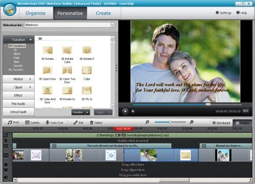 make courtship slideshow