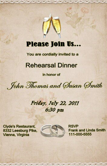 How to Make Unique Rehearsal Dinner Invitations