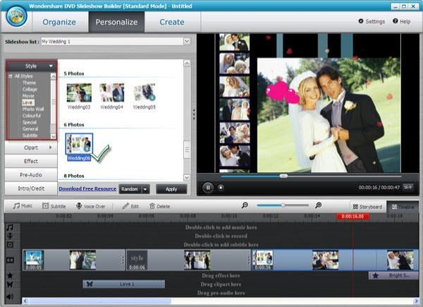 wedding dvd slideshow software