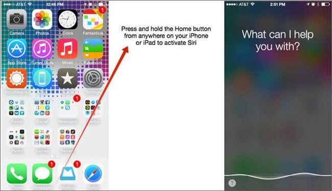 how to find siri on iPhone 4