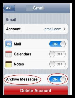 undelete email iphone
