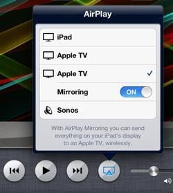 ipad to apple tv with airplay