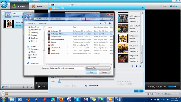 Adding Media (MP3 Format) File3