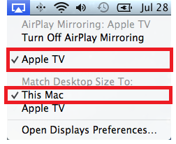 AirPlay mirroring button