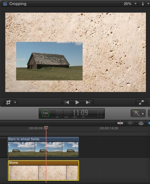 how to crop an image with final cut pro