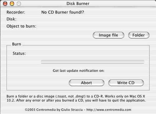 disk burn