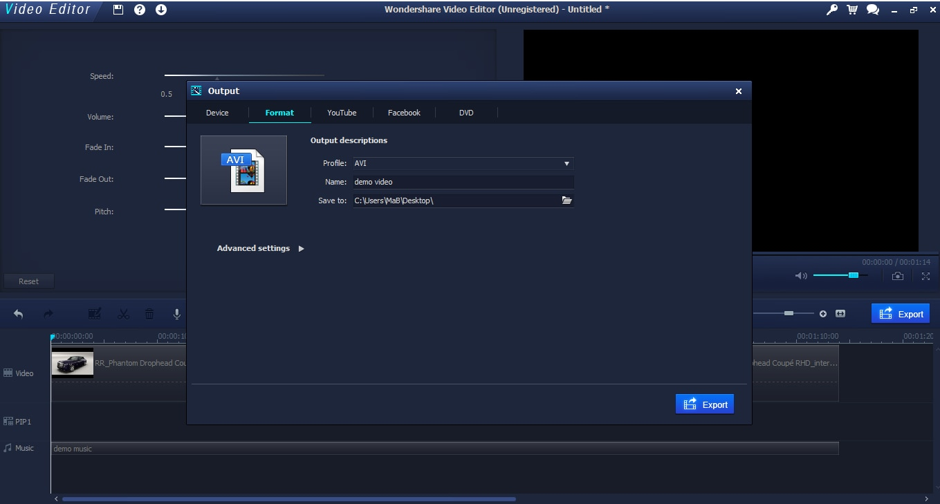 Install Wondershare Filmora (originally Wondershare Video Editor)
