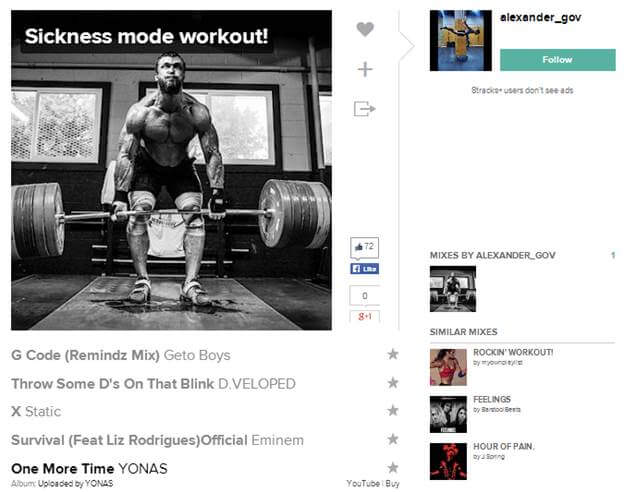 sickness mode workout