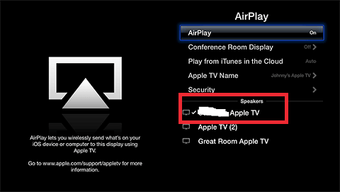 turn on the AirPlay