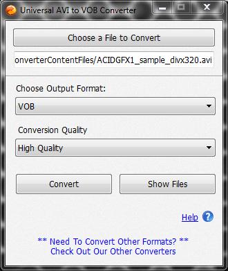 Universal AVI to VOB Converter