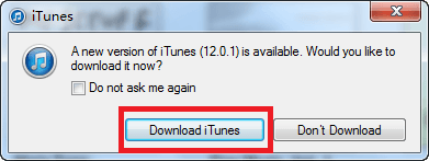 Upgrade your iTunes