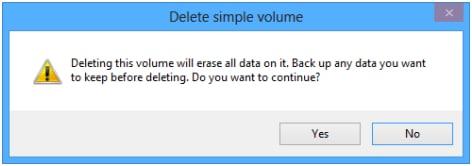 delete partition in Windows 10