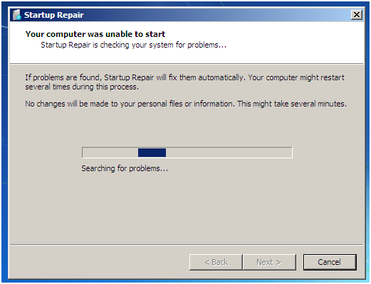 How to fix the invalid partition table problem
