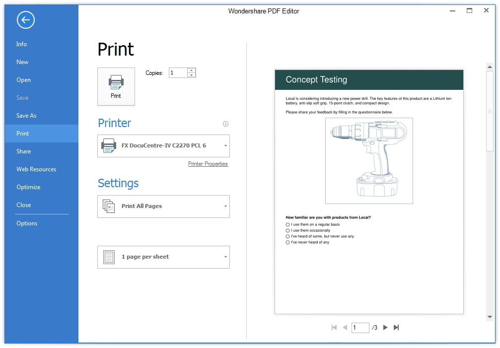 Printing PDFs in custom sizes