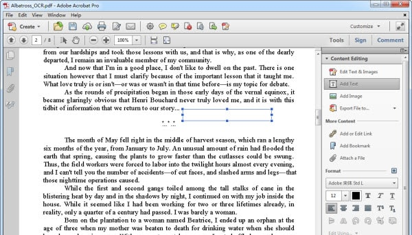 edit PDF in Adobe Acrobat