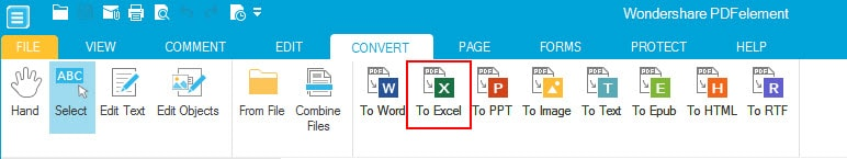 convert pdf to excel 2010