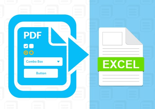 Export PDF form Data to Excel