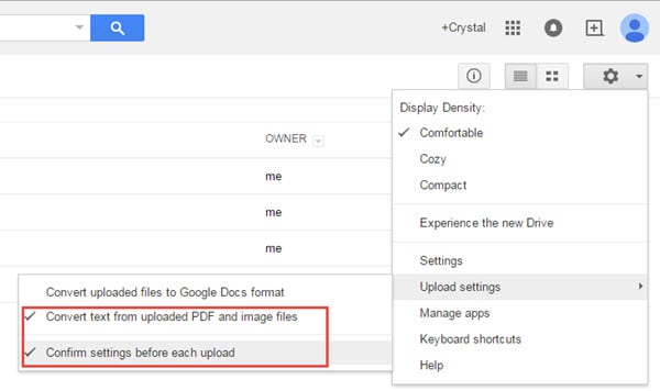 how to upload pdf file in google search