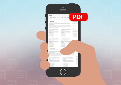 PDF on iPhone 5