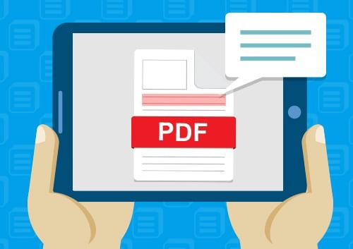 Read PDF on iPad