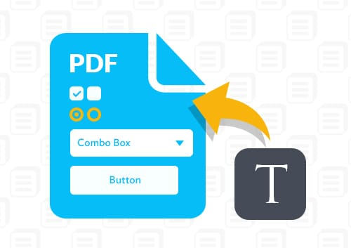 Type on A PDF form