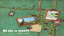 Travel and Vacation Scrapbook Pages: Europe scrapbook