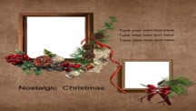 Nostalgic Christmas Scrapbook Template