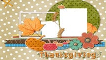 Thanksgiving Day Scrapbook - Crisp Autumn Days