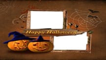 Trick or Treat Halloween Scrapbook Template
