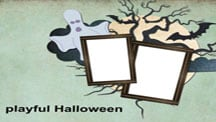 Joyful Halloween Scrapbook Template